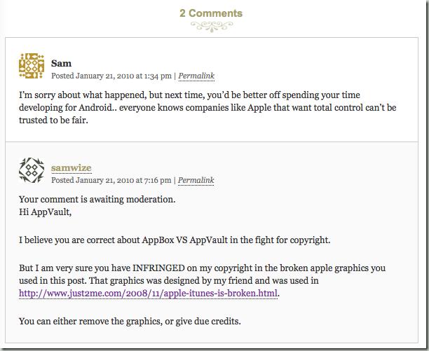AppVault comment