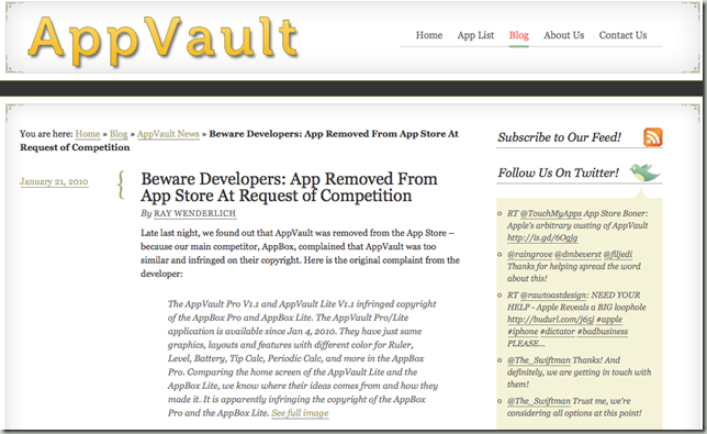AppVault without broken apple